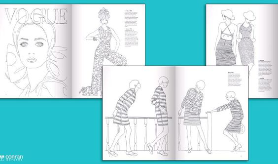 Vogue Colouring Book by Iain. R Webb - The Clothes Maiden
