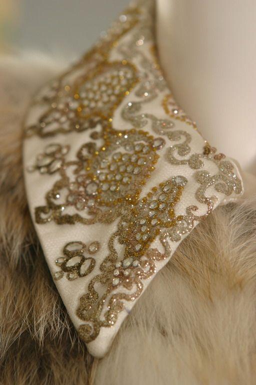 Christian lacroix haute couture sublime platinum fox on