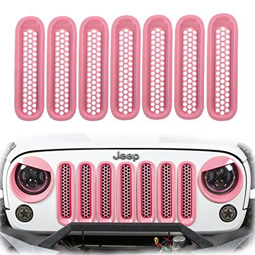 U Box Clip In Gloss Pink Grille Mesh Inserts For 2007 2015 Jeep Wrangler Jk Unlimited Pack Of 7 Jeep Wrangler Jk Jeep Wrangler Accessories 2015 Jeep Wrangler