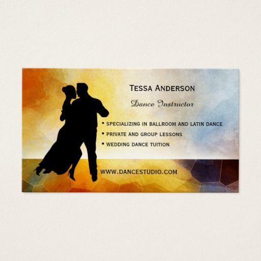 Ballroom Dance Instructor Business Card Zazzle Com Dance Instructor Ballroom Dance Dance Background
