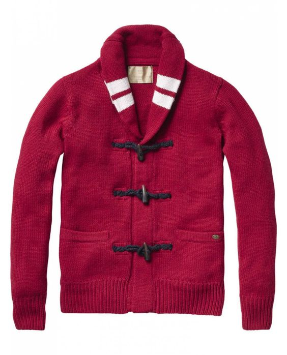 Cardigan with zip and toggle closure - Pulls - Scotch & Soda Online Shop