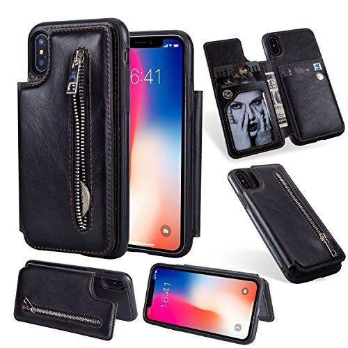 Durable Soft Wallet Cover for iPhone XR PU Leather Flip Case for iPhone XR