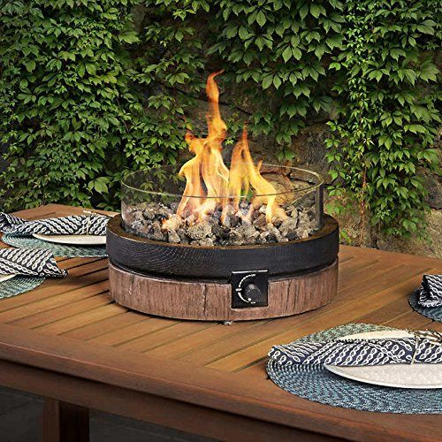 North Woods 16 Inch Northwoods Outdoor Patio Table Top Fire Round Gas Fire Bowl Features Smo Fire Pit Table Top Outdoor Propane Fire Pit Outdoor Fire Pit Table