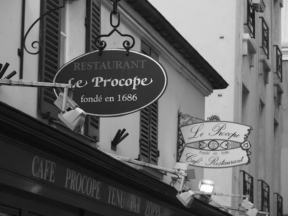 Dining at Le Procope...  {Established 1686}