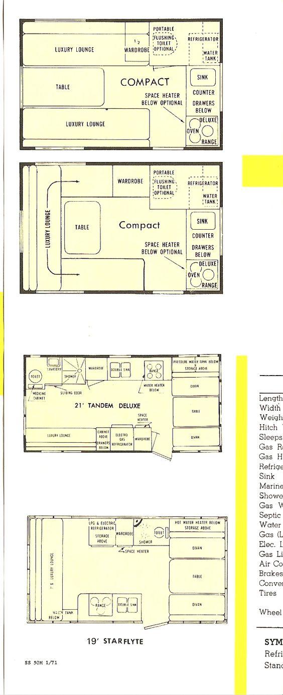 shasta camper  campers and floor plans on pinterest