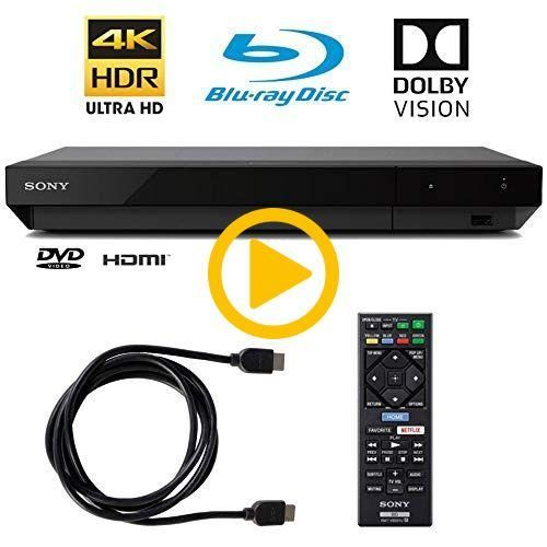 Sony 4k Ultra Hd Blu Ray Player With 4k Hdr And Dolby Vision 6ft Hdmi Cable Bluray Blu Ray Player Ultra Hd Hdmi