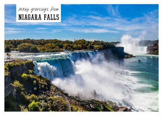 Niagarafälle | Urlaubsgrüße | Echte Postkarten online versenden | MyPostcard.com