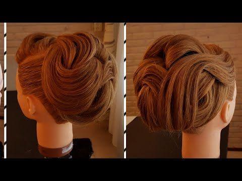Beautiful French Twist For Long Hair أجمل تسريحة فرنسية للشعر الطويل Youtube Easy Hair Updos French Twist Hair Hair Styles
