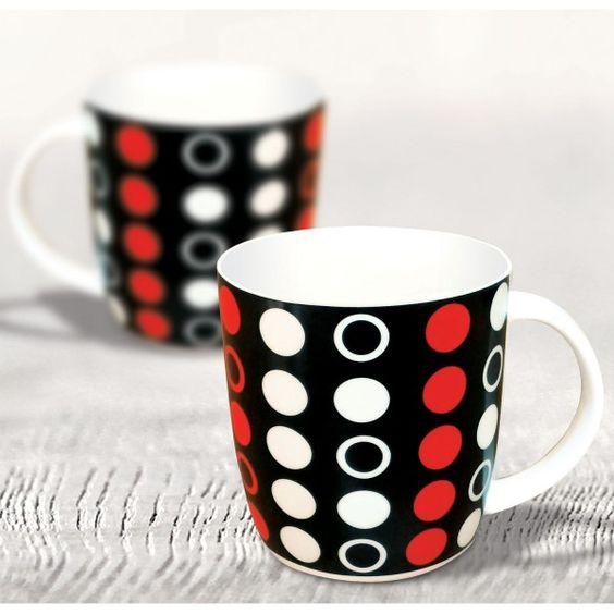 Ceramic Black Red Polka Dot Mug Inr 99 Ping Link Here Http Goo Gl 30w0uk Coffeecup Justicefordrnarang Mugs Pinterest Co