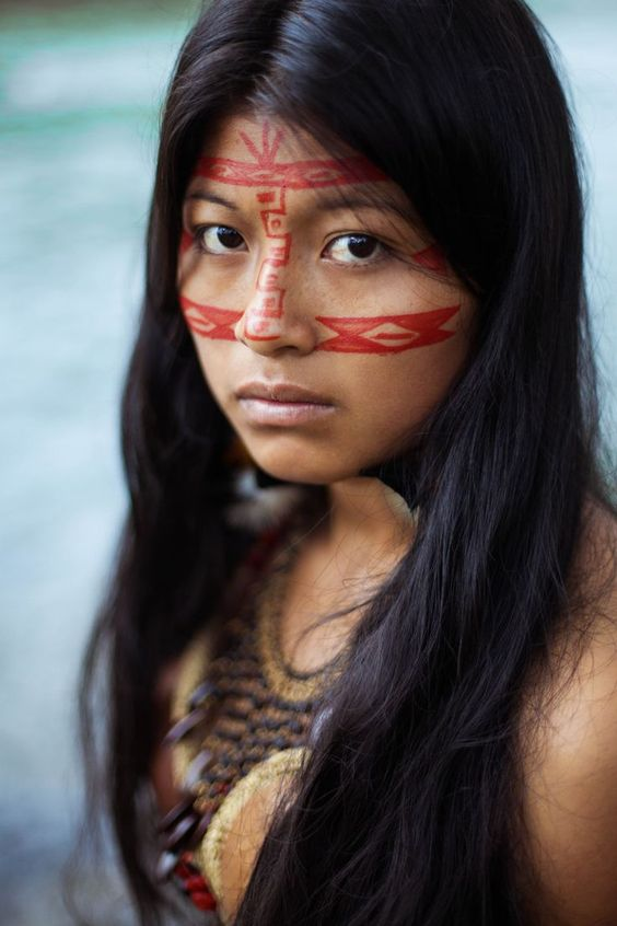 Kichwa woman in Amazonian Jungle from Ecuador