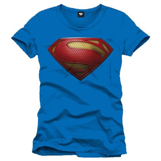 Tee-Shirt Bleu Logo Man of Steel Superman