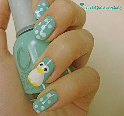Nail Art: Animal Nails | Panda Nails | Penguin Nails | Cool Nails | Gurl.com