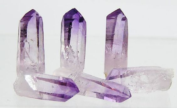 Best Color Deepest Purple Amethyst Raw Crystals Stone Jewelry Points Free US Shipping
