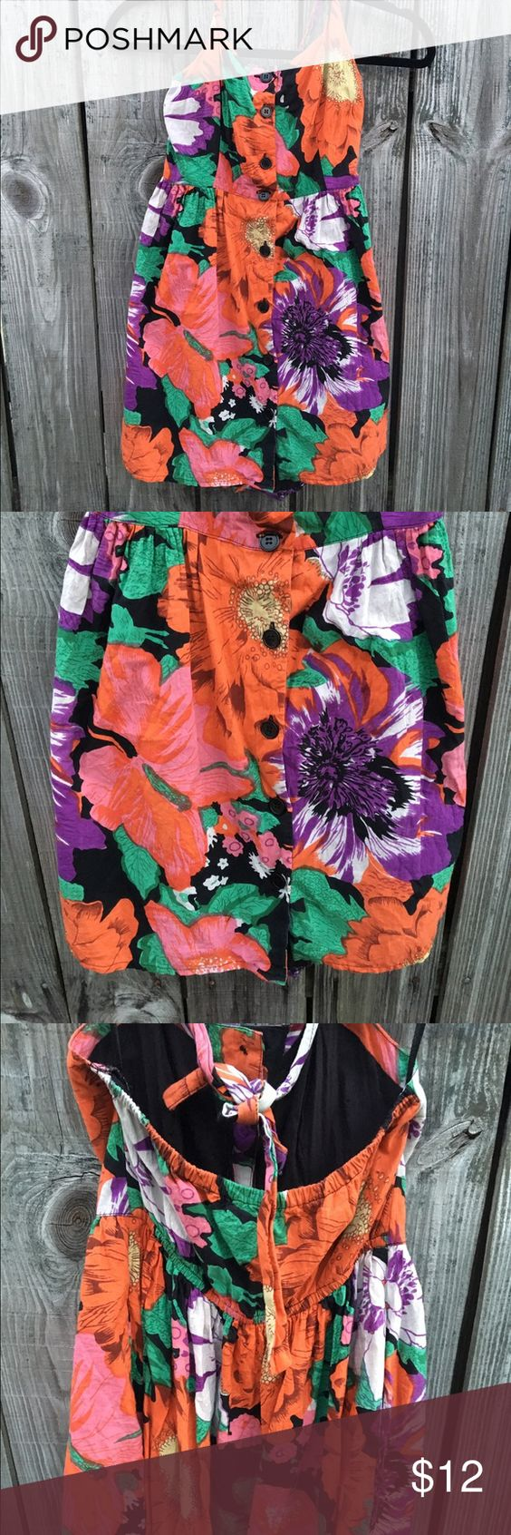 Two Strap Floral Dress Purchased at TJ Maxx. Size Small. Worn very Little. Clean no Rips. Perfect for the hot months. All ready to go home to you Dresses Backless