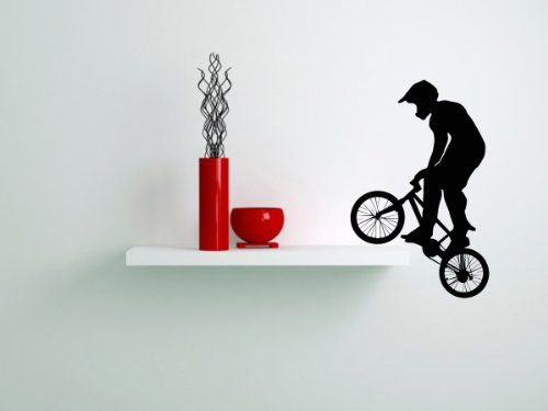 Housewares Vinyl Decal Bike Sport Jumping Bicycle Cycle Home Wall Art Decor Removable Stylish Sticker Mural Unique Design for Any Room Decal House http://www.amazon.com/dp/B00G245TC2/ref=cm_sw_r_pi_dp_VXSUtb1YWR7B5BJZ