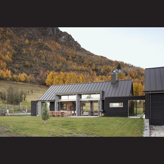 The roof design and metals on pinterest for Modern house siding solutions