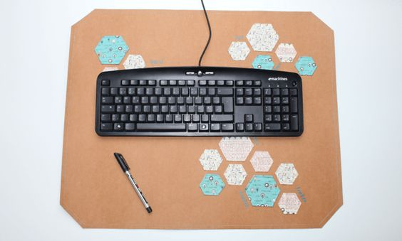 DIY Schreibtischunterlage aus SnapPap