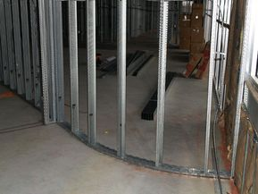 Metal Stud Construction In A New Construction Complex Interior Walls Framed With Metal Interior Wall Insulation Interior Design Software Frames On Wall