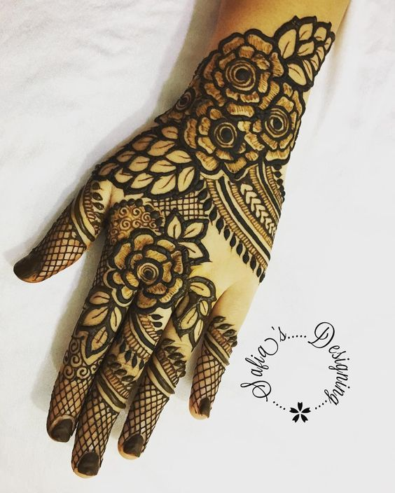 50 Most Attractive Rose Mehndi Designs To Try Rose Mehndi Designs Mehndi Designs Floral Henna Designs