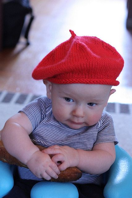 Hand Knit French Beret Baby Hat In Multiple Colors Hats, Colors and French