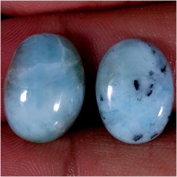 100% Top Quality Natural Blue Larimar Pair For Earning 15.60CT. (JAIPURGEMS2016) #Jaipurgems2016