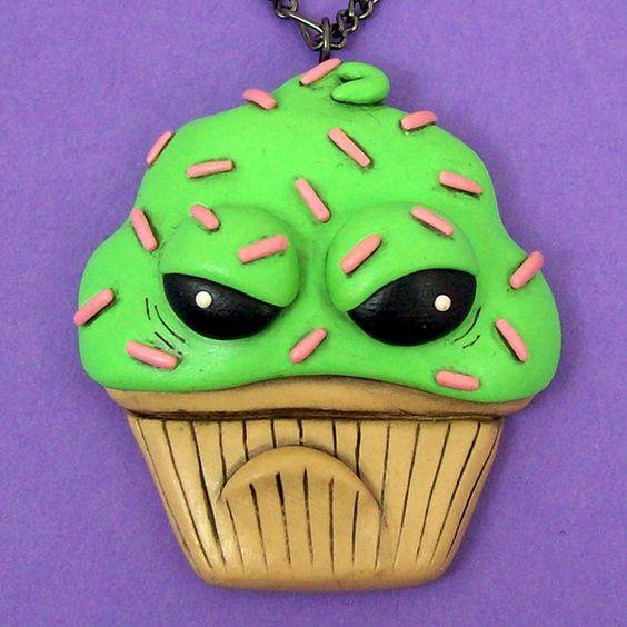 Sour Cupcake Necklace by beatblack.deviantart.com on @deviantART