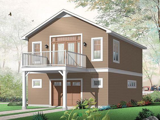 Charming One Car Garage Apartment Plan House Plans