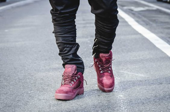 VILLA Teams Up With Timberland on the Field Boot in Navy and Cranberry…