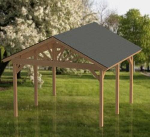 Gable Roof Gazebo Building Plans 16 X16 Perfect For Etsy