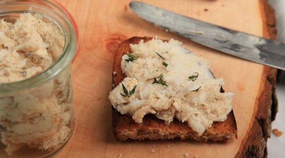 Rezept für Kaninchen-Rillette mit Orange und selbst gebackenem Brot