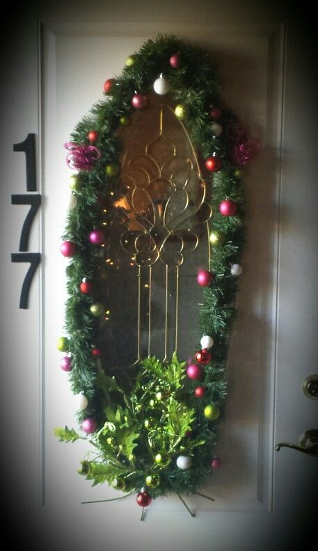 I Could Never Find A Wreath To Frame The Oval Window In My