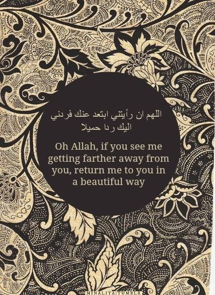 Ya Rabb! Allow me to please you and not go astray!