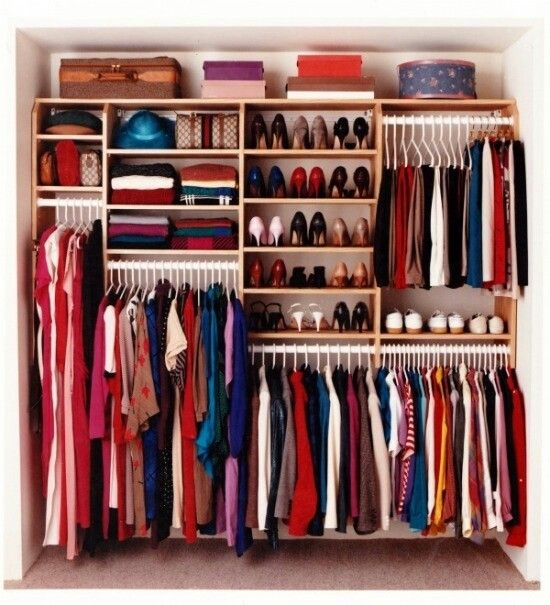 Open Shelving In A Closet Makes Everything Easy To Access And Organised And  Be Sure To