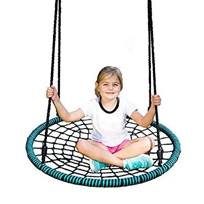 Spider Web Tree Swing Kit - 40 Inch Diameter, 600 lb Weight Capacity, Fully Assembled, Easy to Install
