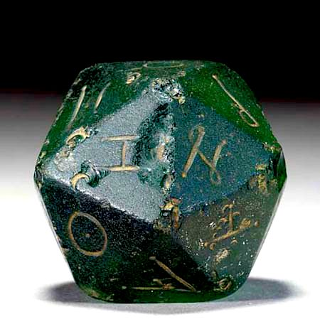 20-Sided Roman Gaming Piece -- 2nd Century BCE -- Glass