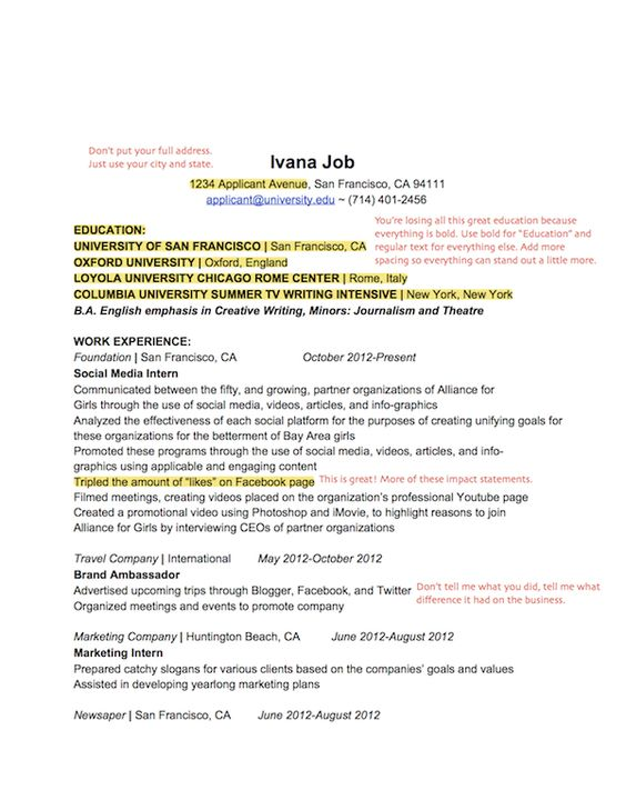 A resume template for every recent college grad currently looking - columnist resume 2