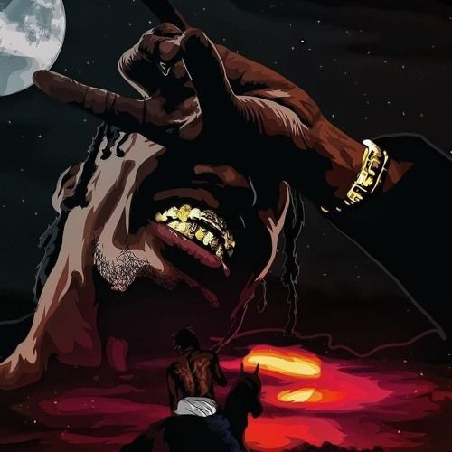 Pin By Abztrakt716 On Faces With Images Travis Scott Art Music Canvas Travis Scott Wallpapers