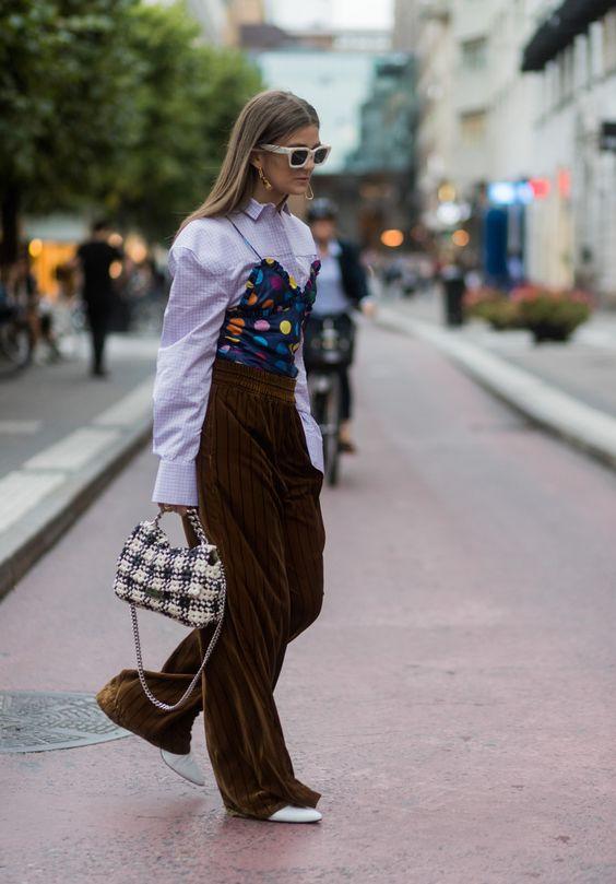 STYLECASTER | Polka Dots Street Style | Polka Dots Shopping | Fashion Influencer wearing polka dot bustier