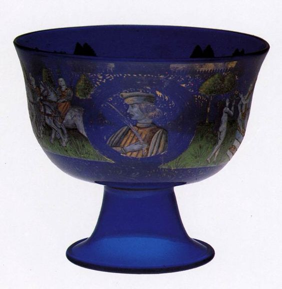 UNKNOWN GLASS MASTER, Italian Marriage Goblet c. 1470 Glassware Museo dell'Arte Vetraria, Murano: