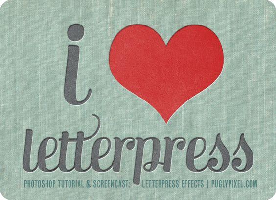 Letterpress Effects