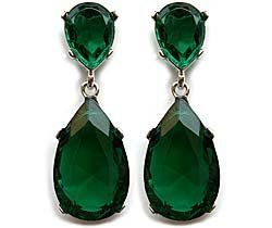 Angelina Jolie Oscar ~ Beverly Hills Housewives Emerald Earring by Steve Sasco Designs, http://www.amazon.com/dp/B00355YWII/ref=cm_sw_r_pi_dp_1fPDpb0WRVNMH