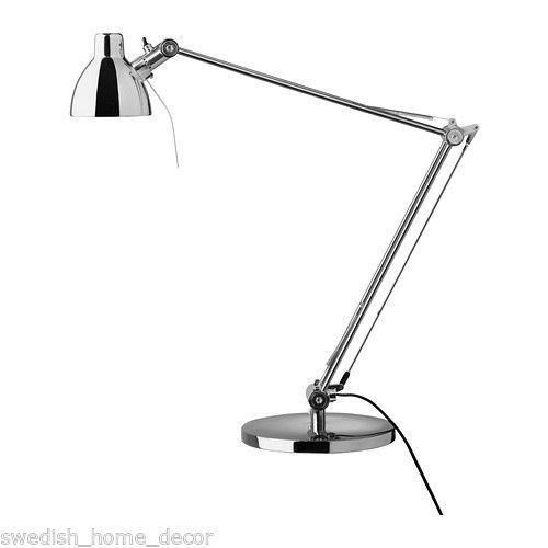 Ikea antifoni desk light chrome plated silver halogen work lamp new reading contemporary desk - Ikea halogeen ...