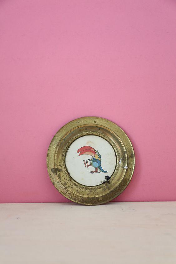 Parrot Metal Decorative Plate #4