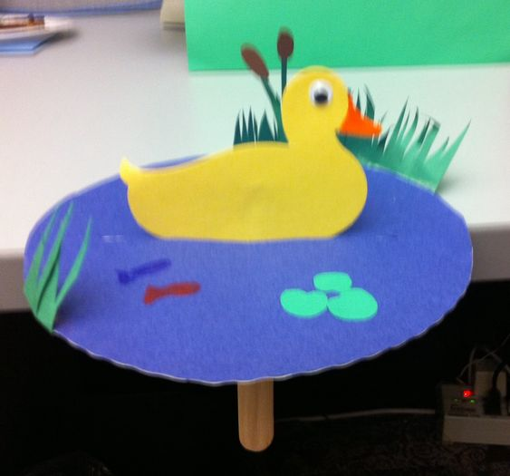 how to make duck using paper plate