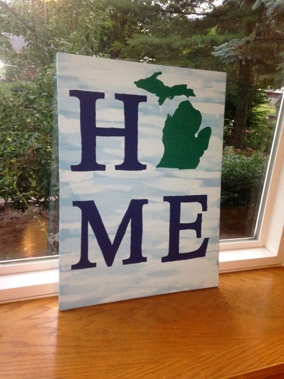 Michigan HOME Painting! Great graduation gift for high school or collage graduate getting ready to relocate!