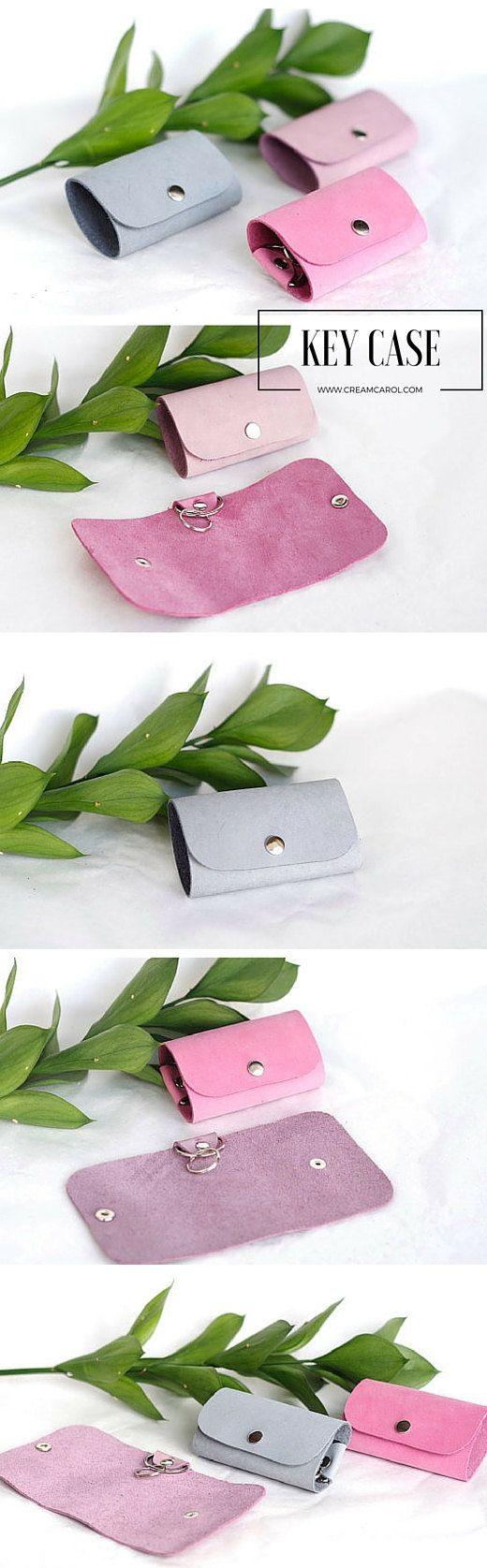 Key case Key holder Key pouch Keychain Leather by creamcaroll