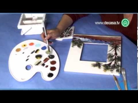 Pintura a mano alzada c mo pintar un paisaje en un marco for Como combinar colores de pintura