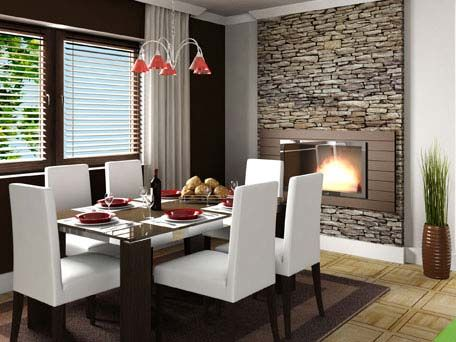 O revestimento de pedra fica timo em salas modernas - Paredes decoradas modernas ...