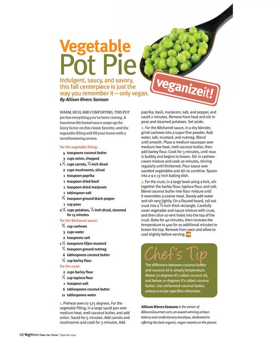 vegetable Pot Pie | Recipes | Pinterest | Vegetable Pot Pies, Pot Pies ...