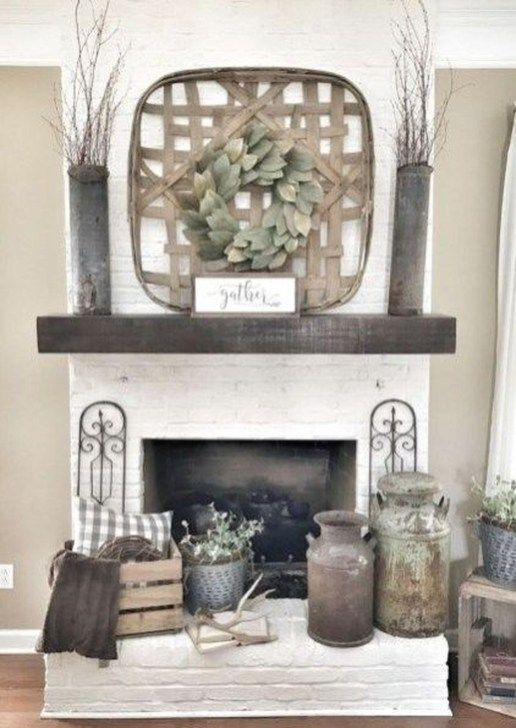 Genius Fireplace Makeover Design Ideas 02 Farmhouse Decor Living Room Country House Decor Farm House Living Room